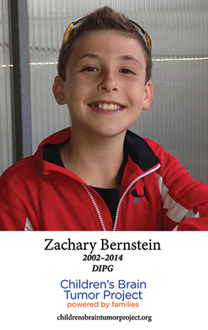 Zachary was one of the children commemorated on a banner at The Bronxville Road Race last month.
