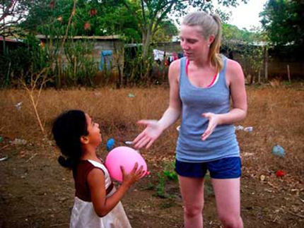 Elizabeth in Nicaragua on her community service project